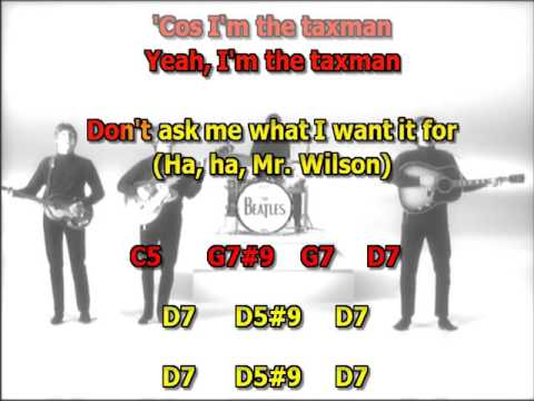 Taxman Beatles Best Karaoke Instrumental Lyrics Chords Youtube