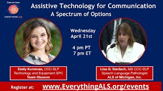 Assistive Technology for Communication, A Spectrum of Options by Team Gleason