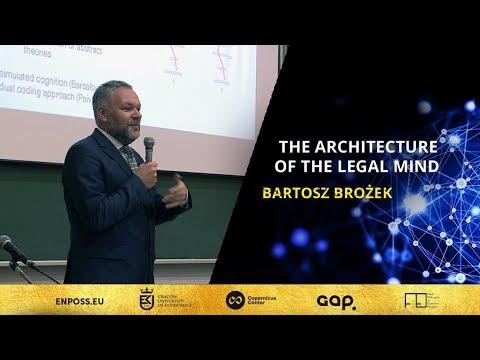 The Architecture of the Legal Mind, Bartosz Brożek   ENPOSS