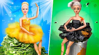 Rich vs Broke Ballerina / 10 Barbie DIYs