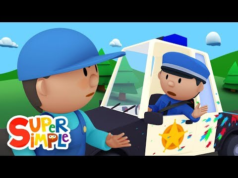 Thumbnail: Police Officer Oona chases a paint thief and gets a BIG SURPRISE! | Police Car Wash