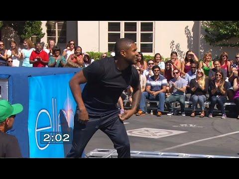 USHER Beats American Ninja Warrior on Ellen! | What's Trending Now!