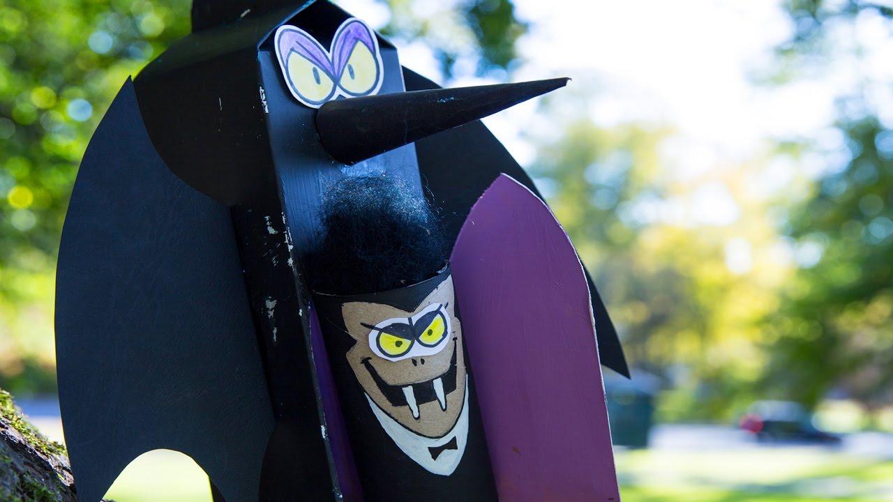 Cardboard Dracula Diy Halloween Crafts Ideas For Kids Box Minis
