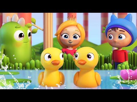 Песенки для малышей - Утята. Музыкальный мультик Сина и Ло . Учимся считать