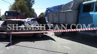 Խոշոր ու ողբերգական ավտովթար Երևանում  «06» ը բախվել է ЗИЛ ի հետնամասին