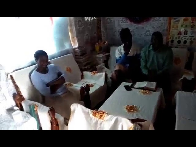 Bro Haron Exhorts The Tall Man & His Wife in the Word at Home in Moi's Bridge Kenya 8 24 2018