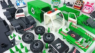 Monster broke the car! Robocar Poli! Make us garbage truck with Model Assembly Kit! #DuDuPopTOY