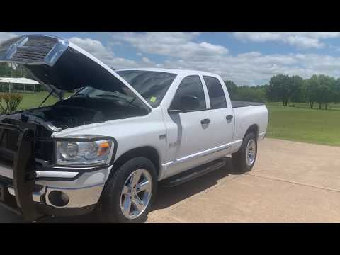 2008 WHITE /Tan Dodge Ram 1500 Laramie Quad Cab 2WD (1D7HA18268S) with an 5.7L V8 OHV 16V engine, located at 17760 Hwy 62, Morris, OK, 74445, (918) 733-4887, 35.609104, -95.877060 - Photo #0