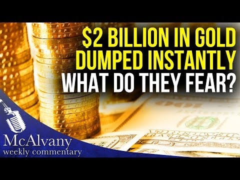 Again? $2 Billion In Gold Contracts Dumped Instantly, What Do THEY Fear?
