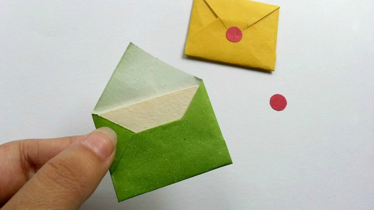 How To Create Cute Miniature Envelopes  Diy Crafts Tutorial