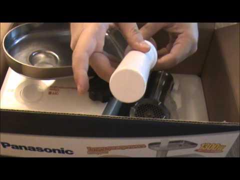 Мясорубка Panasonic MK-G1300P - unboxing