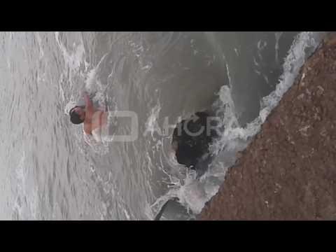 Canal Diez MdP | Rescate en playa de mar del plata