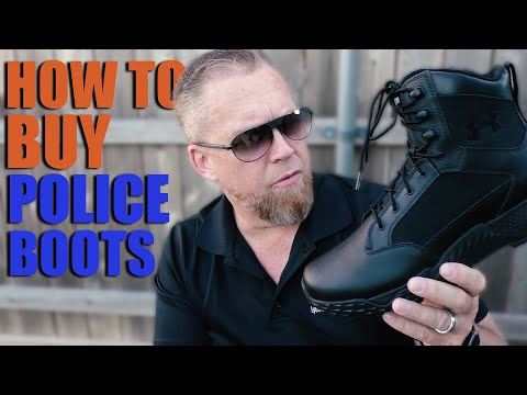 How To Choose The Best Tactical Foot Gear [POLICE BOOTS]