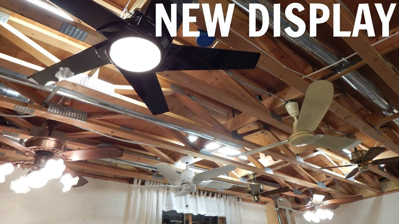 New ceiling fan display phase 1 in operation youtube mozeypictures Choice Image