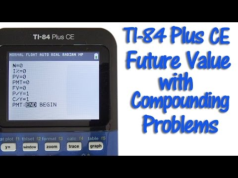 TI 84 Plus CE Future Value with Compounding