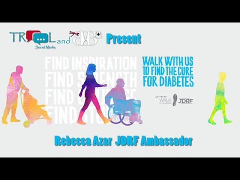 JDRF Ambassador Rebecca Azar 2017  Telus Walk to Cure Diabetes
