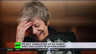 Theresa May 'humiliated' at EU summit