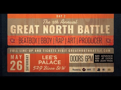 Great North Beatbox Battle 2018 | Day 1 | Livestream @Canada