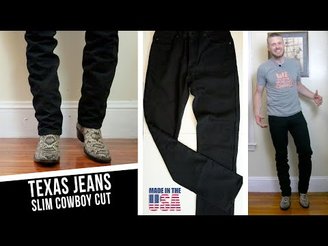 Texas Slim Cowboy Cut Jeans are USA Made and Affordable!