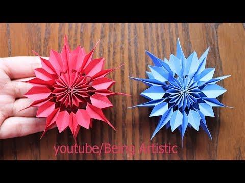 Easy Way To Make Paper Star - Paper Craft - Handmade Star - Home Decor