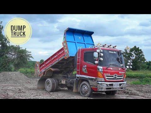 ดู รถดั้ม รถบรรทุกสิบล้อ หกล้อ แทรกเตอร์ รถไถ ถมที่ เพลินๆ truck Thailand