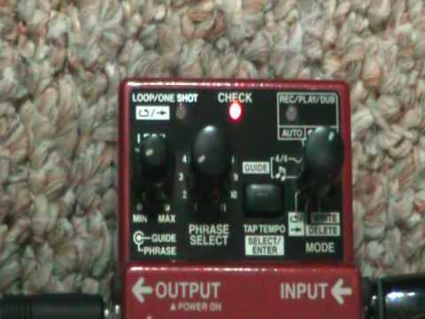 BOSS RC-2 Loop Station - How to
