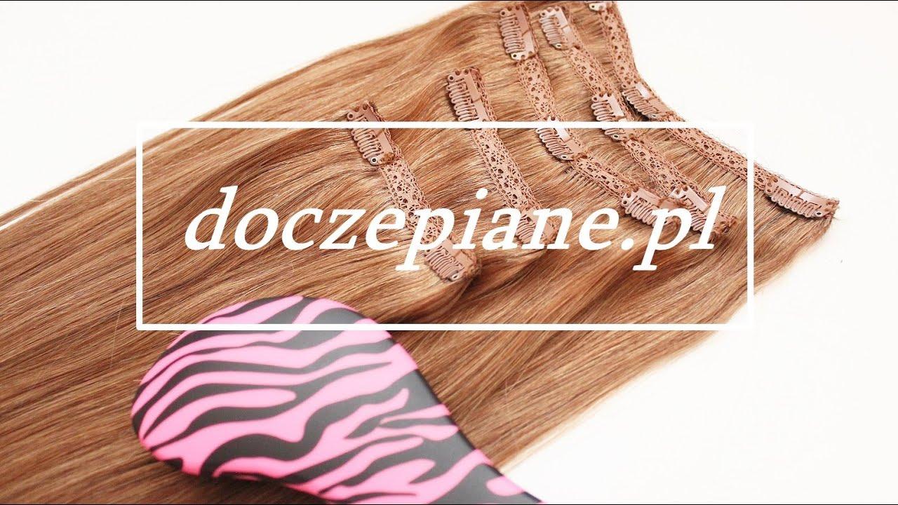 #1 doczepiane.pl - Naturalne włosy Clip In 55 cm 220g - prezentacja zestawu [anna koper]