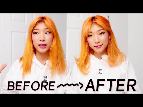 5 min in washroom - from dry hay hair to fabulous faux blowout hair - 동영상