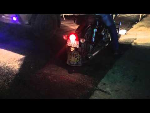 fire shot in my  Royal  Enfield bike silencer