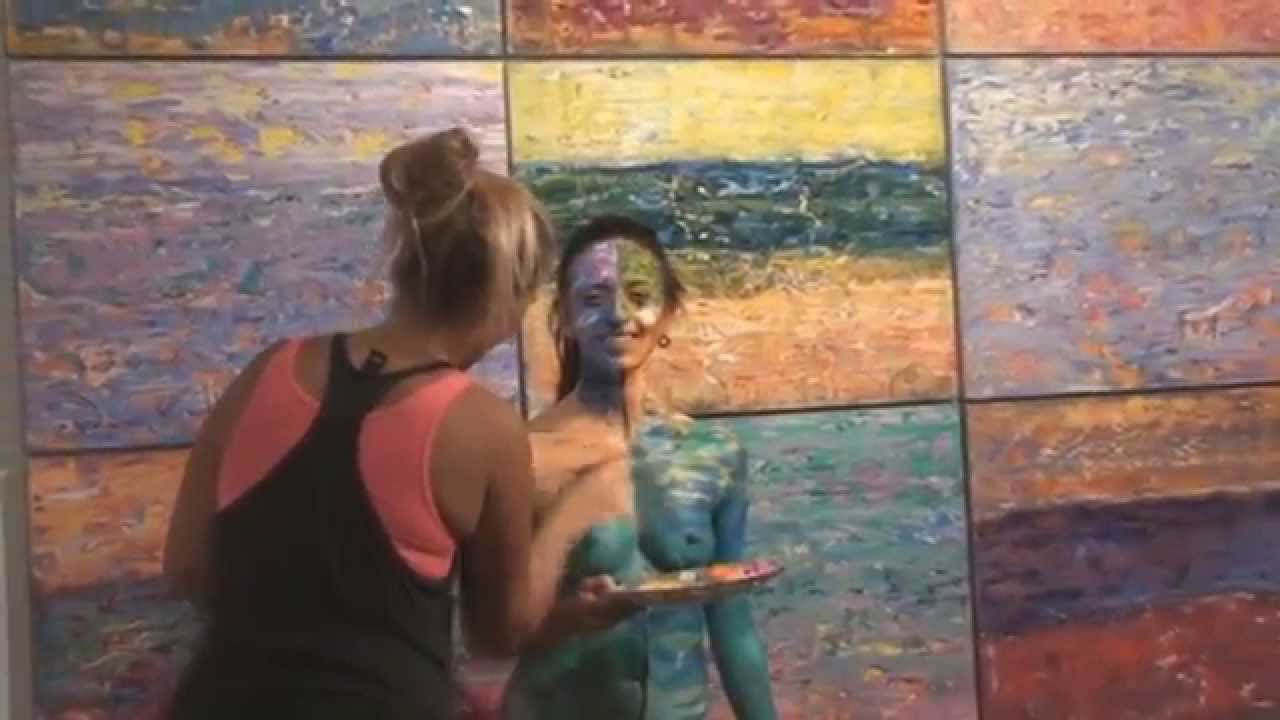 Body Art Performance Nude Miami Beach Art Basel Week 2014 Usa