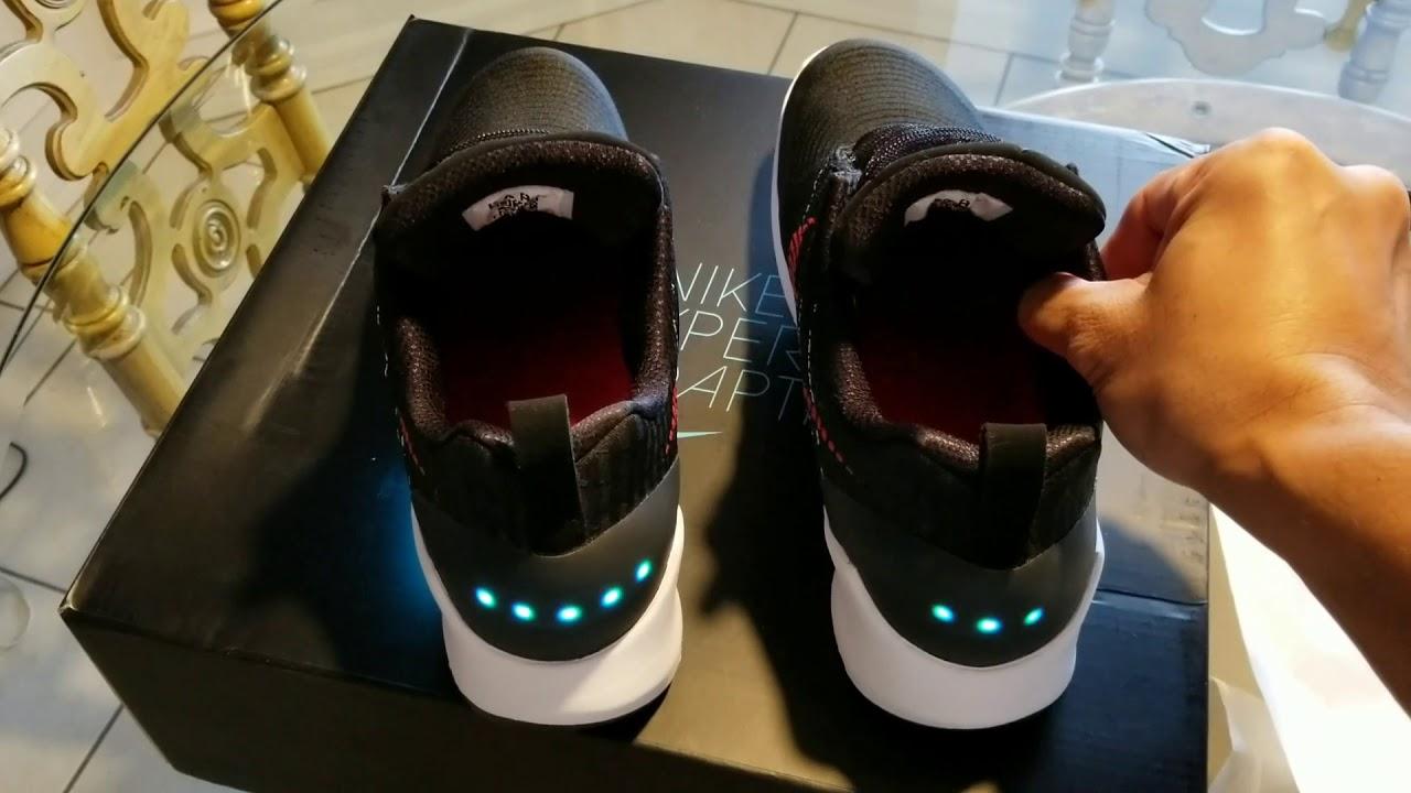 494611acae7ef0 Nike Hyper Adapt 1.0 review(Black University Red) - YouTube