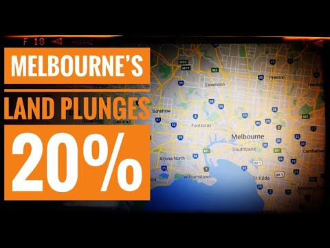 Melbourne's Land Plunges 20%