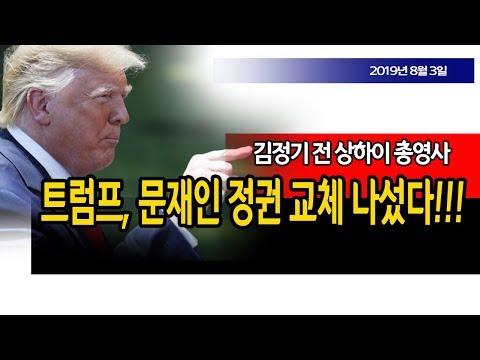 트럼프, 문재인 정권 교체 나섰다!!! (김정기 전 상하이 총영사) / 신의한수