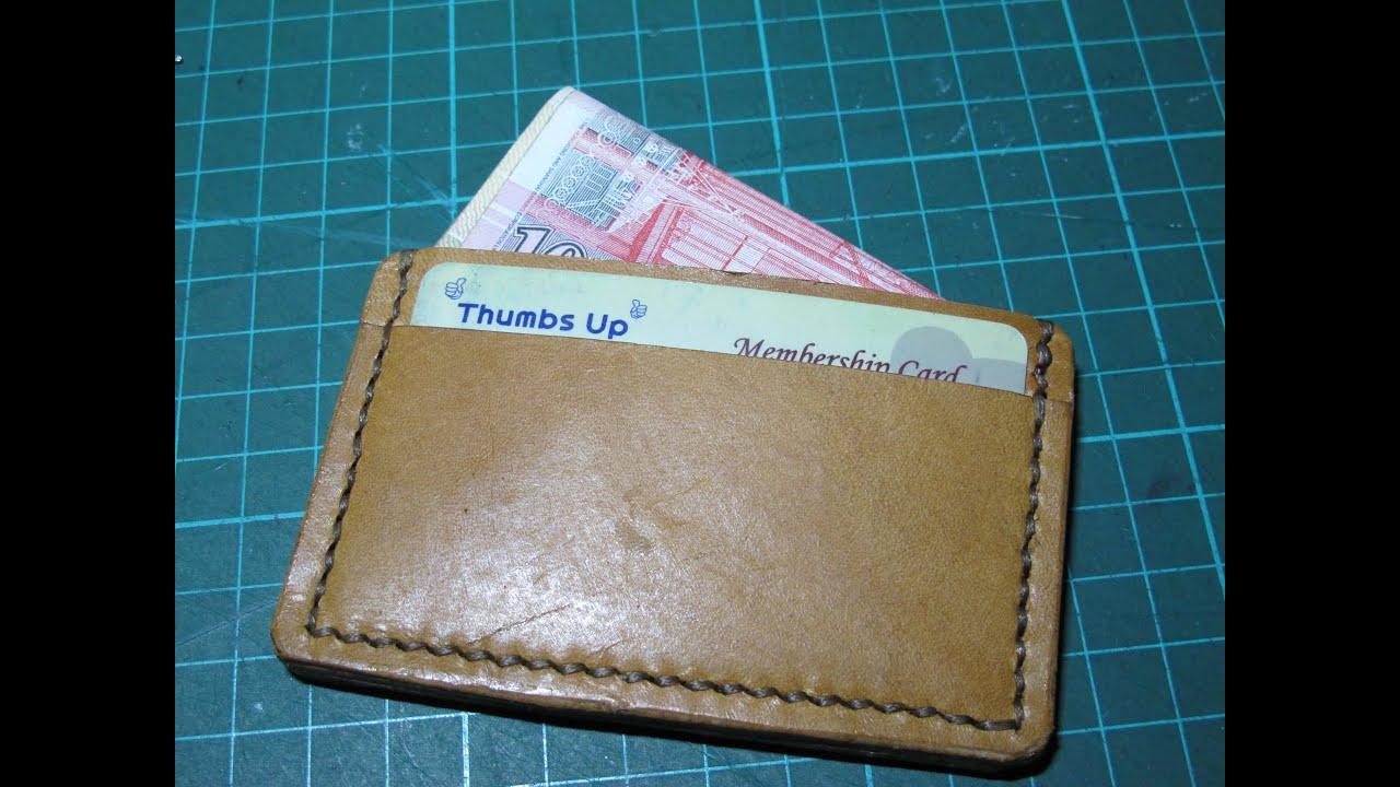 making a leather card holder - Leather Card Holder Wallet
