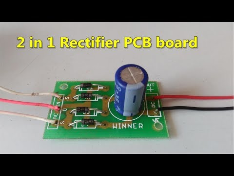 2 in 1 AC to DC Rectifier PCB board  full wave bridge & center tapped rectifier