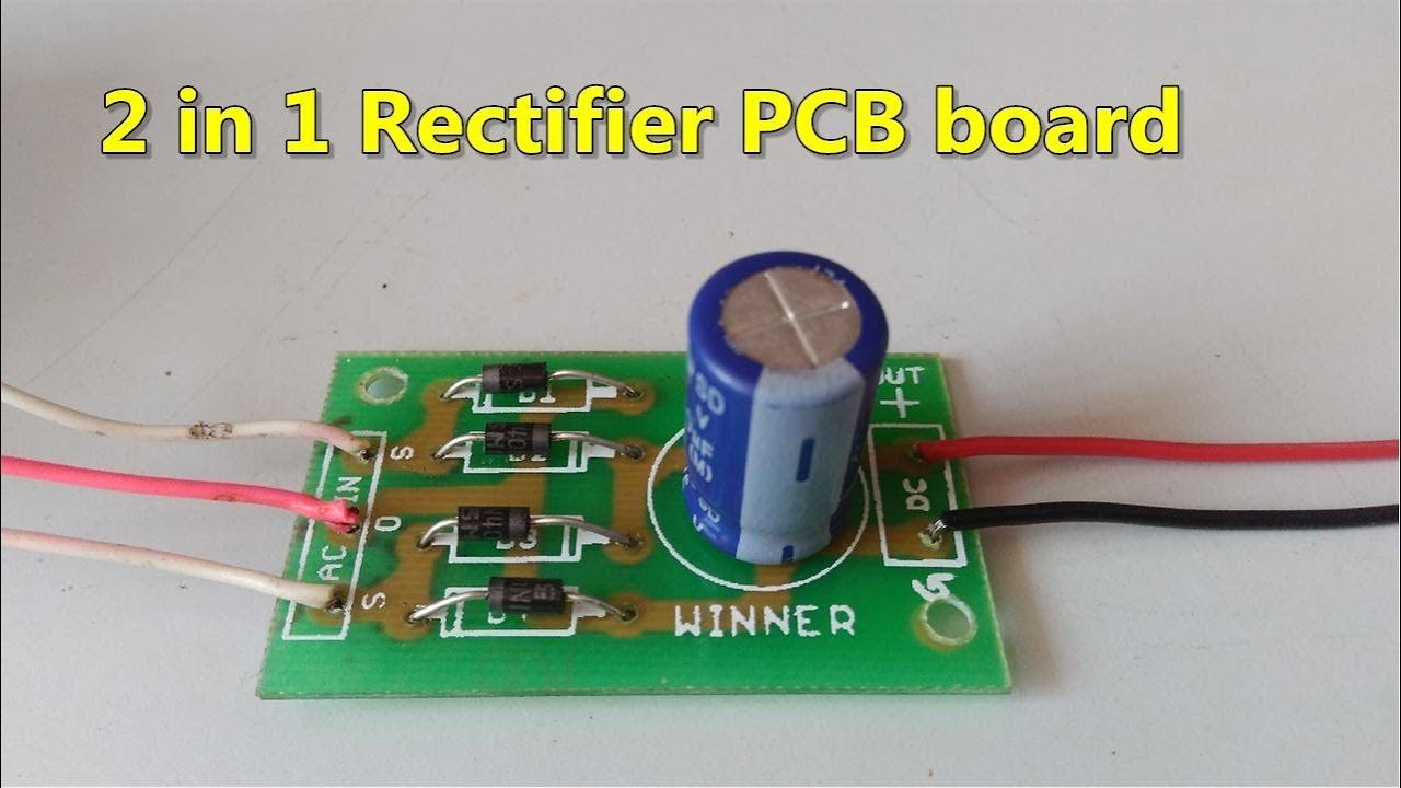 circuit diagram variable resistor 2 in 1 ac to dc rectifier pcb board full wave bridge  2 in 1 ac to dc rectifier pcb board full wave bridge