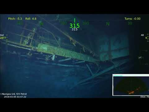 USS Lexington VNR package   Dive feed 1