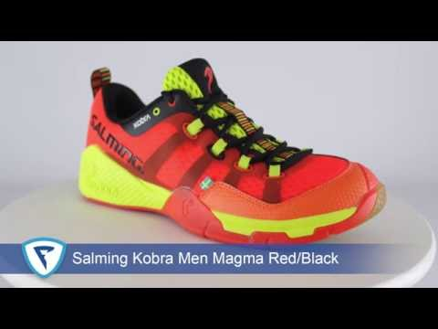 186a063bbca Salming Kobra Men Magma red black - YouTube
