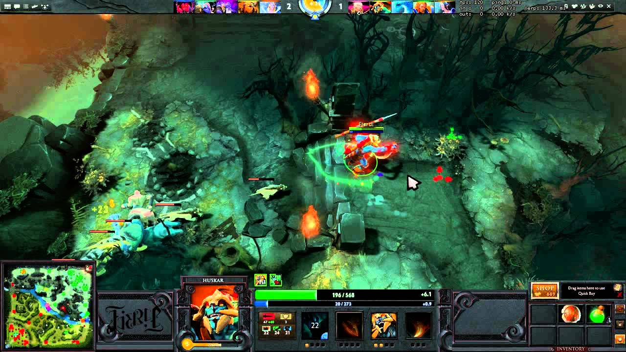 the f bomb dota 2 hero guides huskar the burninator youtube