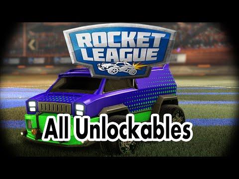 Rocket League All Unlockables! : RocketLeague
