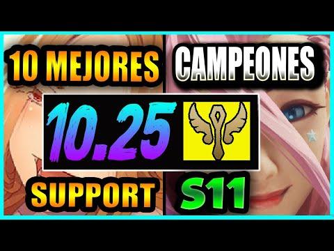 10 MEJORES CAMPEONES SUPPORT S11 | PARCHE 10.25 – PICKS MÁS ROTOS | Tier List S+ | GUÍA SUBIR ELO