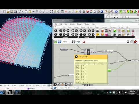 Mapping Curves to Surfaces in Grasshopper