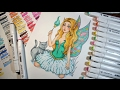 Forest Fairy Drawing 【Touchfive Markers Speedpaint】Art Collab