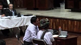 Testigos empiezan a declarar en juicio a Efraín Ríos Montt