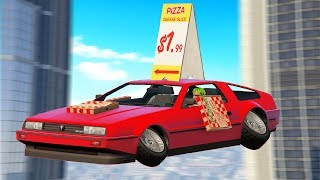 Delivering Pizzas But With Flying Cars.. (GTA RP)