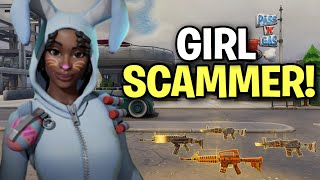 Lying GIRL Scammer Scams Herself! (Scammer Get Scammed) Fortnite Save The World