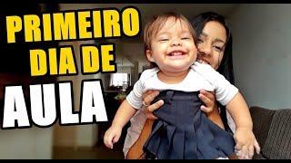 PRIMEIRO DIA DE AULA DA VALENTINA - MEIA RASGADA!! Pérolas da J@que