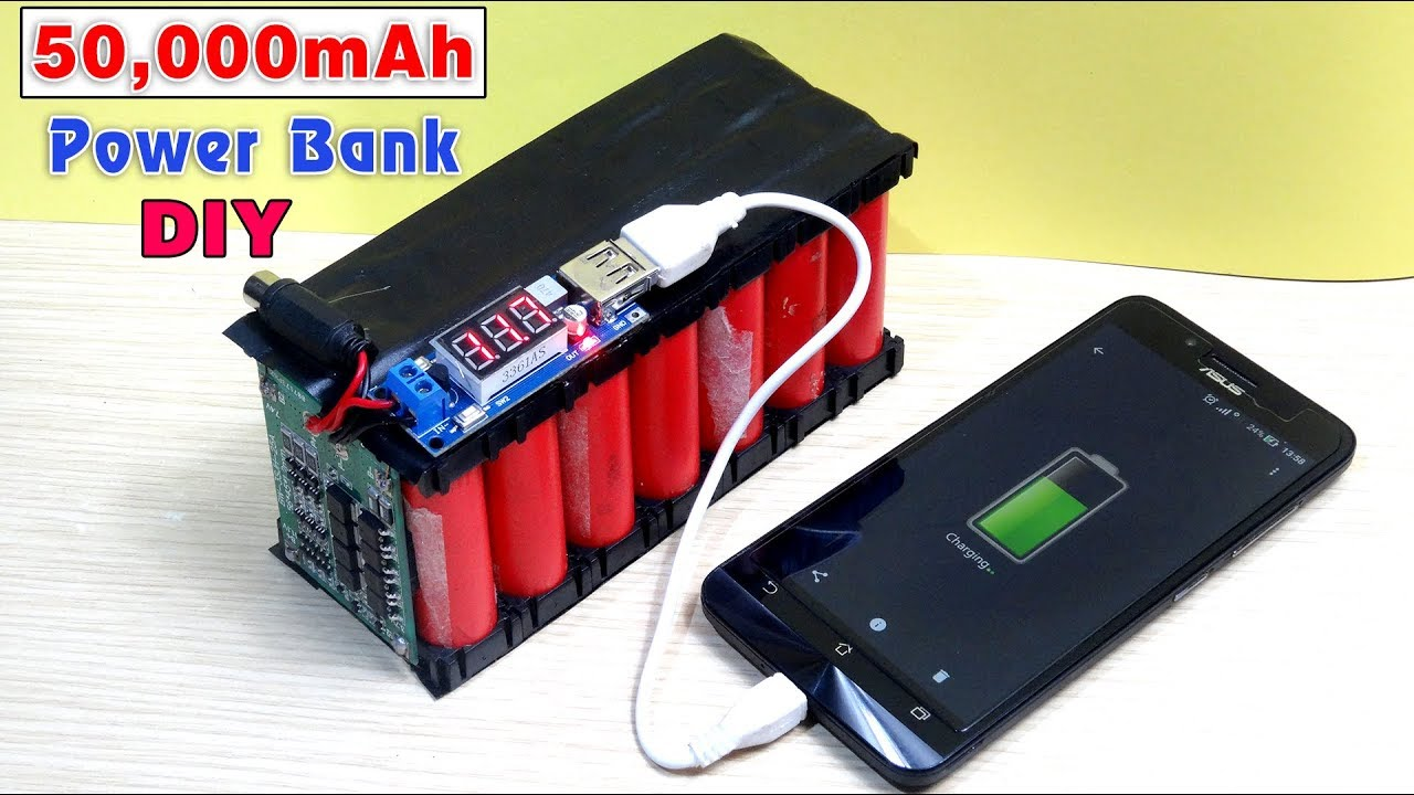 Diy Power Bank How To Make A 50 000 Mah Power Bank From Scrap Laptop Battery