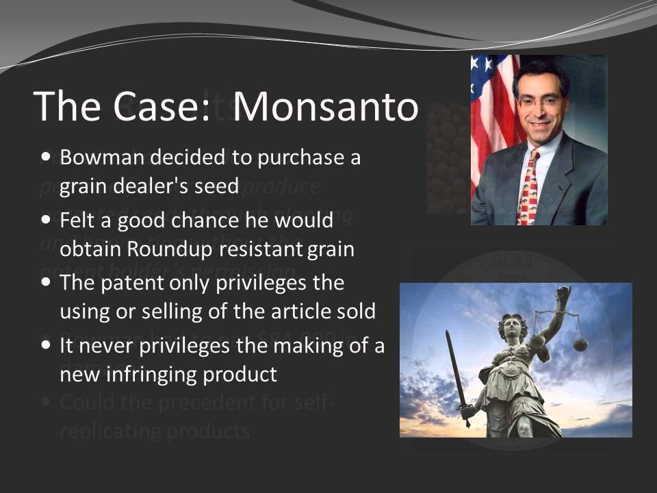 Monsanto vs Bowman Soybean Patent Case - YouTube