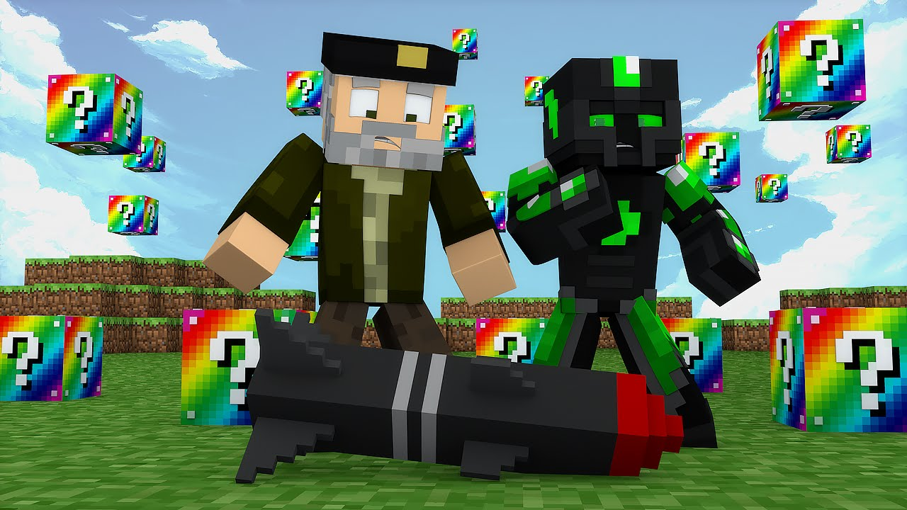 Minecraft: LANZAMISILES! c/ sTaXx | RAINBOW Lucky Blocks Epic Race